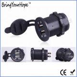 Uso do motociclo preto carregador USB Dupla (XH-UC-025)