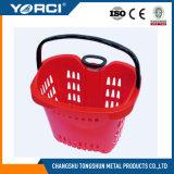 Apple Style Draw Lever Supermercado Plástico Shopping Basket
