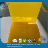 Rideau en plastique anti-insectes translucide jaune