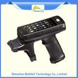 PDA avec du SYSTÈME D'EXPLOITATION androïde, scanner de code barres, lecteur de RFID, berceau, IP67
