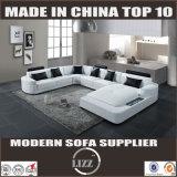 Norwegen-Spitzenkorn-echtes Leder-Sofa (Lz2212)