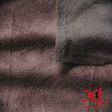 Poliestere del Brown scuro un tessuto laterale della pelle scamosciata per il sofà/indumento
