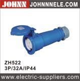 IP67 3p 32A Conector de tipo de extremidade superior para industrial