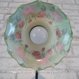 Moderna Flor de Rosa UL Marrón Tiffany Lámpara de Mesa