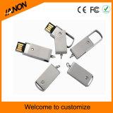 Movimentação de venda quente do flash do USB do giro da vara do USB do metal