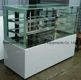 Изогнутый стеклянный охладитель индикации торта с Ce