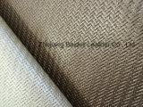 Искусственная кожа софы PVC картины Weave