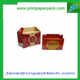 Kundenspezifischer Kunstdruckpapier-Giebel-Geschenk-Süßigkeiten-Milchprodukt-verpackenkasten