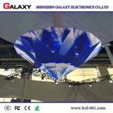 Örtlich festgelegter Innen-HD flexibler gebogener weicher kreativer LED Bildschirm für das Bekanntmachen/die Dekoration-Geschäftsstraßen, Speicher, Hotels, Stadium