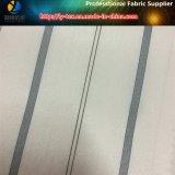 Weißes Streifen-Futter-Pokyester gesponnenes Textilkleid-Gewebe (S51.58)