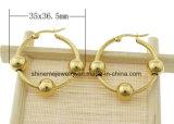 Boucles d'oreilles plaqué or en acier inoxydable (ERS6900)