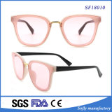 Óculos de sol da forma da alta qualidade, óculos de sol feitos sob encomenda por atacado da cor-de-rosa do logotipo