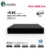 Androider Fernsehapparat-Kasten MiniM8s PROAmlogic S912 2g/16g oder 3G/16g 3G/32g gesetzter Spitzenkasten