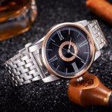 377-Sステンレス鋼の背部ミネラルガラスが付いている防水人の腕時計