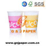 L'impression de gobelets en papier jetables pour boire chaud/froid