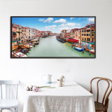 HD Riverside City Downtown Photo Canvas Print