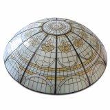 Construções prefabricadas Casa gigante Shell Duplo Dome vitrais com Base
