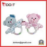 분홍색 가르랑거리는 소리 바위 견면 벨벳 곰 아기 장난감