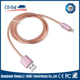 Câble usb métallique pour le remplissage et le transfère des données pour des téléphones