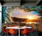 Diseños de encargo populares del papel pintado de murales superventas de la pared de China