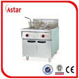 Friggitrice profonda elettrica fatta in Cina, 1 fornitore commerciale della friggitrice dei pesci del cestino del serbatoio 2