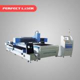 Tubo metálico de alta precisão e máquina de corte a Laser de fibra de folhas