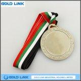 Cadeau de promotion moulant la pièce de monnaie faite sur commande en métal de médailles de médaille blanc
