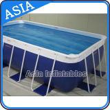 Piscina de tamanho de aço de tamanho personalizado, piscina de moldura de metal, piscina de armação de aço