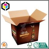 Caixa de empacotamento entalhada regular do armazenamento ondulado da cópia de cor da caixa