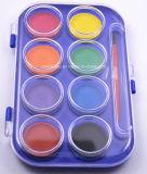 torta del color de agua de la alta calidad de los colores 2.8cm*8 para los cabritos y los estudiantes