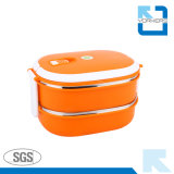 panier-repas de l'acier inoxydable 2-Layer et conteneur de nourriture
