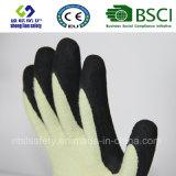 Handschoen Kevlar van het Werk van de Veiligheid van de besnoeiing de Bestand met de Zandige Nitril Met een laag bedekte Handschoenen van de Veiligheid