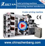 Precio barato roll sticker adhesivo de etiqueta, máquina de impresión Flexo