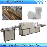 Machine automatique de pliage en plastique PP / PS / Pet Cup Rim Curling