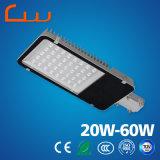 4m-6m luz de rua do diodo emissor de luz de um poder superior de 20 watts