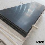 Surface solide acrylique pure noire 12mm 0710