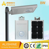 8W 적외선 감응작용 램프 한세트 통합 LED 태양 가로등