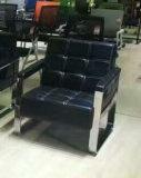 Chaise d'hôtel Classique Populaire Canapé en cuir de bureau avec cadre en acier inoxydable 8805/8809