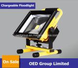 20W Long Temps de décharge 10heures Portable Projecteur à LED/éclairage de la porte