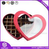 نافذة بلاستيكيّة يعبر هبة قلب شكل شوكولاطة صندوق
