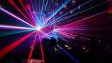 3つのヘッドRGBフルカラーのレーザー光線の段階の照明