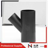 T di plastica materiale della filiale di drenaggio Y degli accessori per tubi dell'HDPE nero