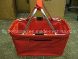 Faltendes Einkaufen-Picknick-Korb befestigtes Aluminiumrohr mit kühler Funktion