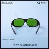 A melhor qualidade do diodo e do ND: Óculos de proteção de segurança dos vidros de proteção de laser de YAG com frame preto 33