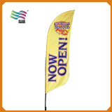 디자인 로고를 가진 주문 광고 바닷가 깃발