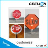 Arrêt neuf de sûreté de chaussée de modèle/signe lent de circulation/route