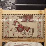 Presidenza di legno della mobilia del ristorante con gli elementi cinesi speciali sulla tappezzeria del tessuto (SP-EC864)