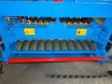 Tetto galvanizzato della parete di doppio strato della lamiera di acciaio che fa macchina