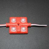 4SMD5630 빨간색 LED 주입 모듈 36*36는 LED 모듈을 방수 처리한다