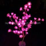 시장 대량 구매를 위한 분홍색 색깔 LED 인공적인 로즈 꽃